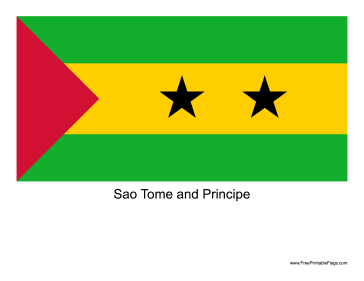 Sao Tome and Principe Free Printable Flag