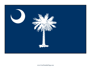 South Carolina Free Printable Flag