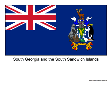 South Georgia and the South Sandwich Islands Free Printable Flag
