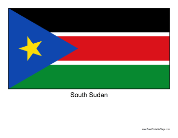 South Sudan Free Printable Flag
