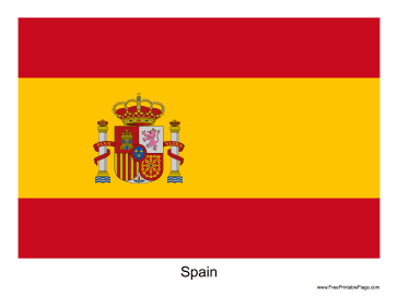 photo relating to Printable Spanish Flag identified as Flag of Spain