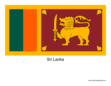Sri Lanka Free Printable Flag