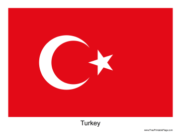 Turkey Free Printable Flag
