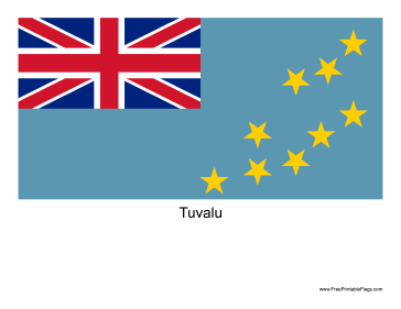 Tuvalu Free Printable Flag