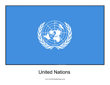 United Nations Free Printable Flag