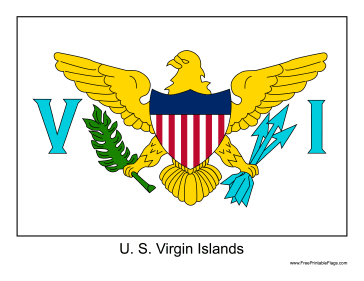United States Virgin Islands Free Printable Flag
