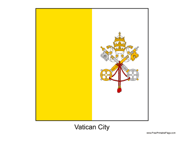 Vatican City Free Printable Flag