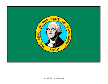 Washington Free Printable Flag
