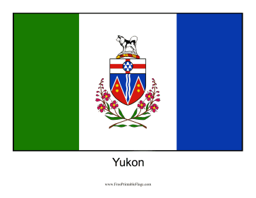 Yukon Free Printable Flag
