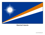 Marshall Islands Free Printable Flag