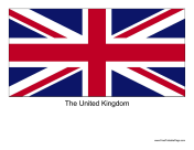 United Kingdom Free Printable Flag